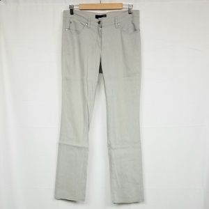 Eileen Fisher Gray Straight Leg Pants 8